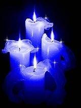 BOUGIE MAGIQUE DE PROTECTION ET DE RICHESSE bougie-bleue3amettre